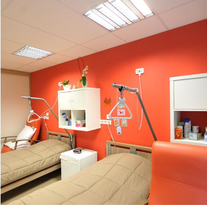 interieur conteneur aménagé hôpital degotte belgique